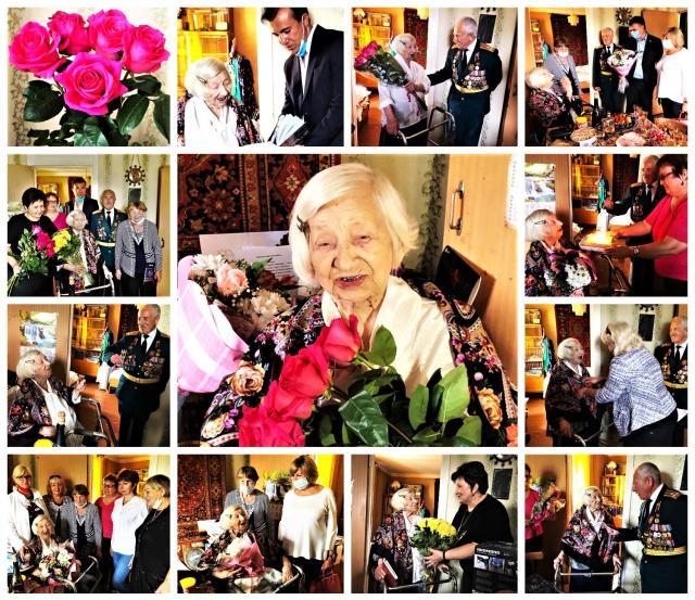 Вековой рубеж перешагнула  старейшая жительница нашего города Ариадна Иосифовна Виноградова